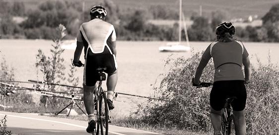 Pasohlávky promenáda pro cyklisty